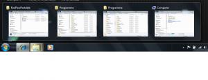 Neuerungen in der Taskbar von windows 7