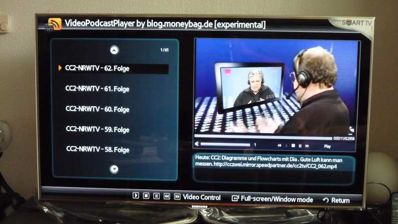 Samsung C  und D Serie Usermode App: VideoPodcast Player