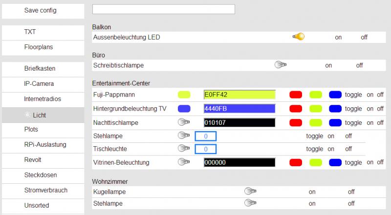 fhem Lichtsteuerung Desktop version
