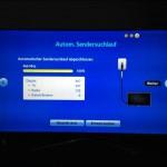 Menügeführte Installation beim Samsung TV der F-Serie