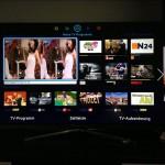 Samsungs Smart-Hub: Übersicht über eine Auswahl von TV-Programmen