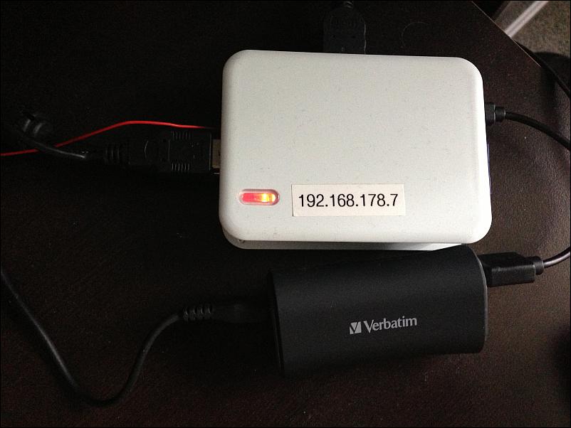 Verbatim external PowerPack als USV für den Raspberry Pi
