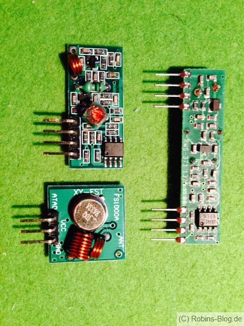 433 MHz Sender und Empfänger
