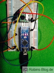 Arduino Nano mit Hope FM RFM12BS