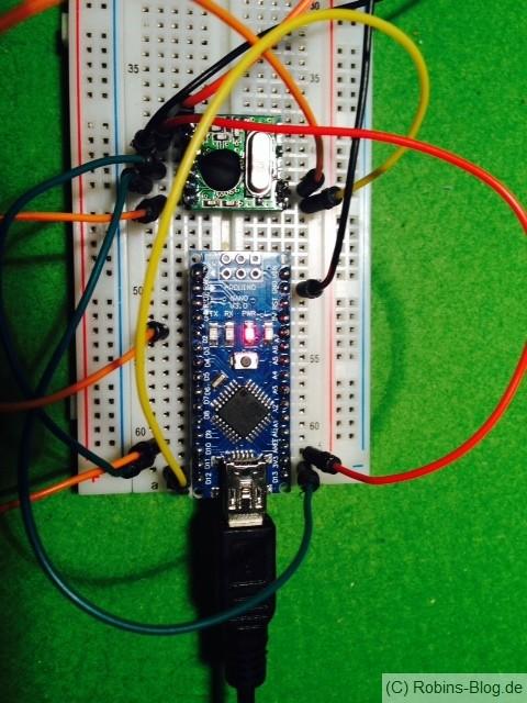 Arduino Nano mit Hope FM RFM12BS - Jeelink-Ersatz
