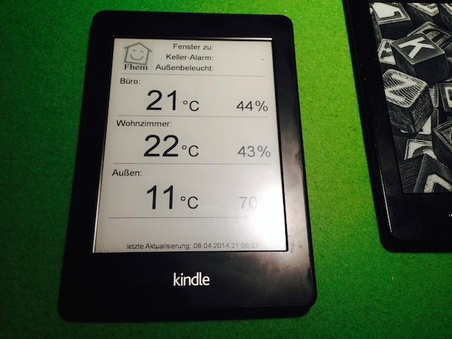 Kindle Paperwhite 2 (jailbreak) mit Fhem als Screensaver