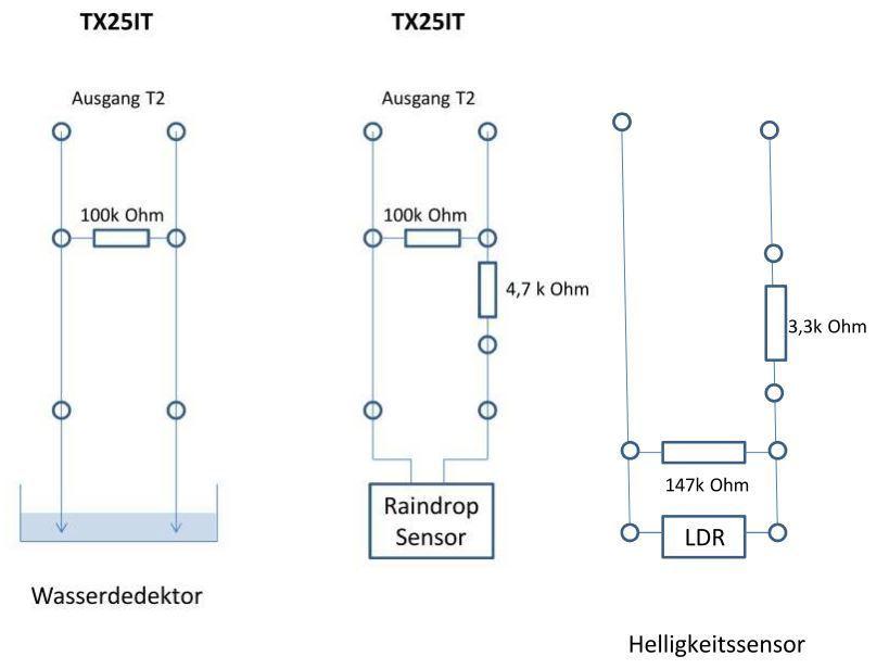 Schaltplan 3 Sensoren