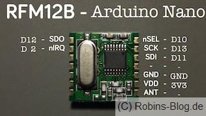Beschaltung des RFM-Bausteins mit dem Arduino-Nano. Foto: Jens W.