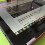 Jetzt verbiegen wir uns: Erfahrungsbericht Lenovo Yoga 2 13 Zoll orange 2 in 1 Touch Notebook