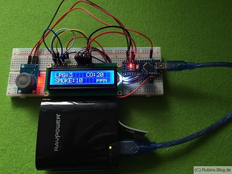 Rauchsensor-LCD-Display-Arduino-Nano