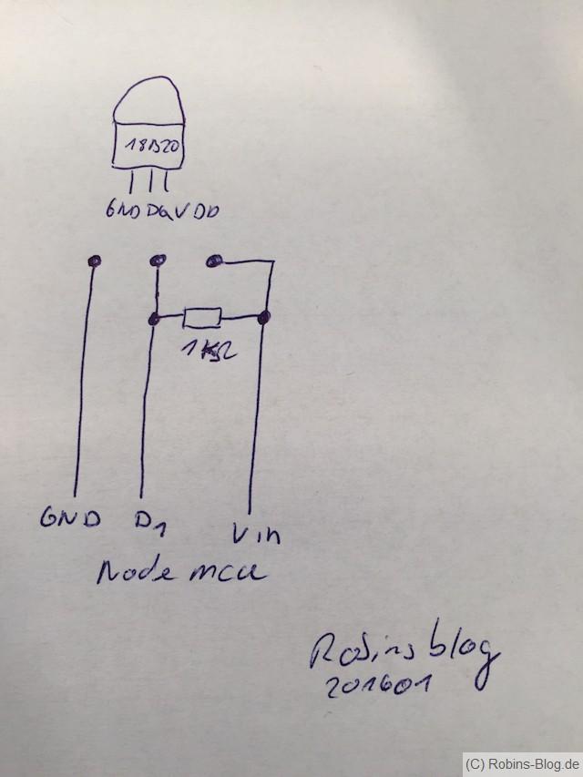 Einfaches WLAN-Thermometer für Fhem mit NodeMCU ohne Löten (Teil 1 ...