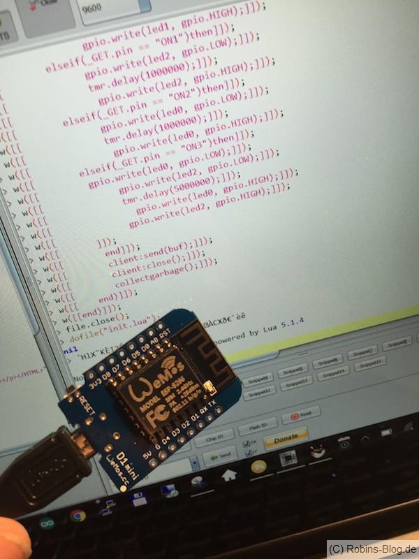 Programmieren des WeMos D1 Boards mit LUA