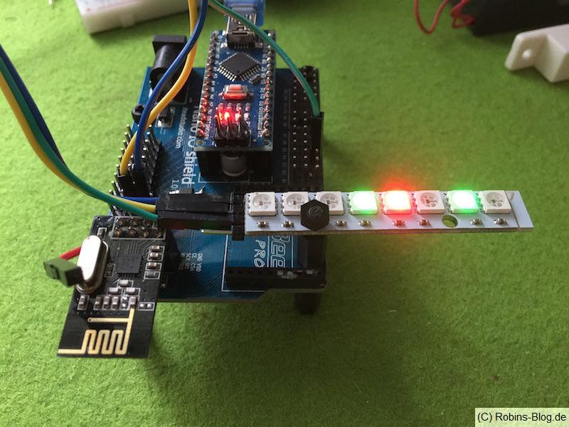 LED-rahmen mit mysensors