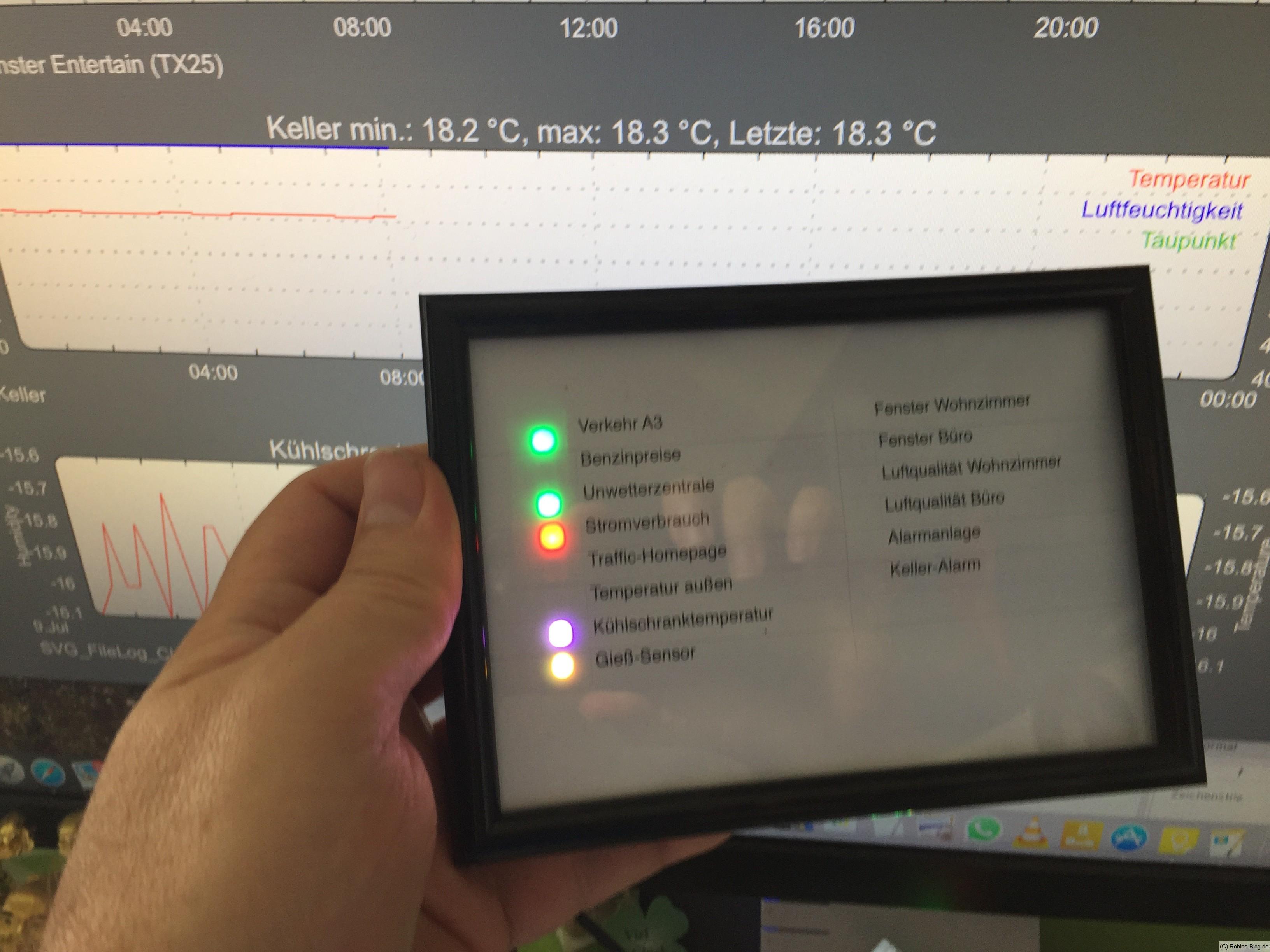Fhem mit LED Statusanzeige / LED-Stripe WD2812B / ESP 8266 | Robins