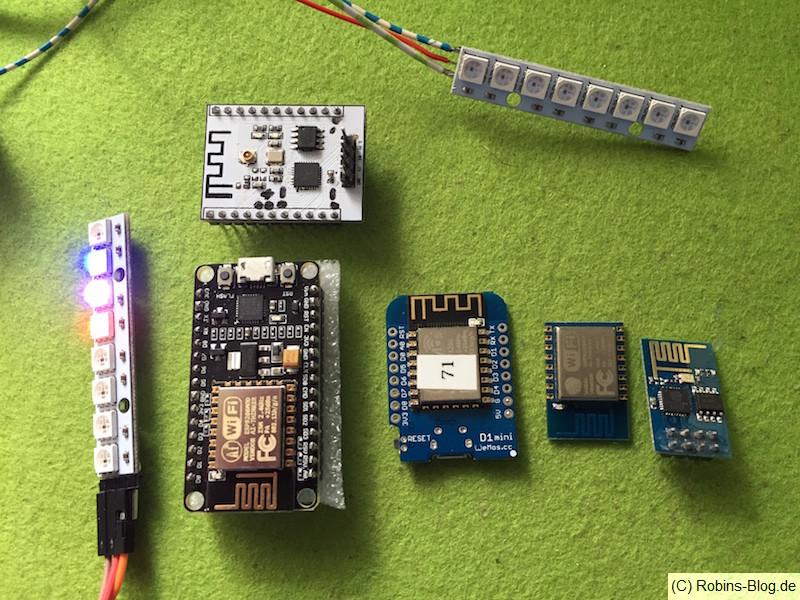 LED-Stripe für Fhem, eine Auswahl von 8266 Modulen, NodeMCU, ESP 01