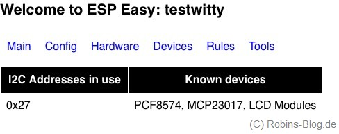 espeasy i2c check