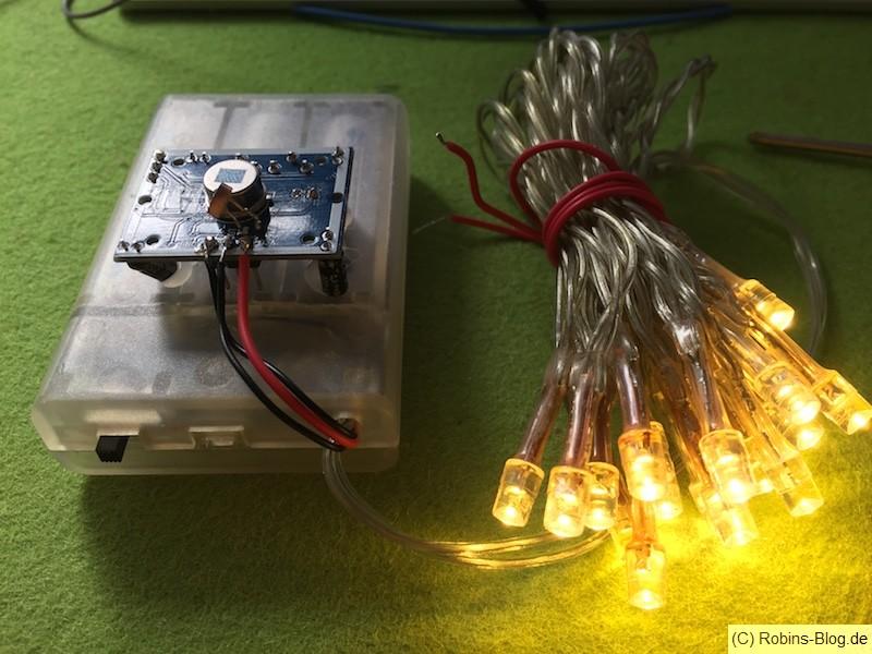 Batterie Led Kette Mit Bewegungssensor Und Lichtsensor Bauen