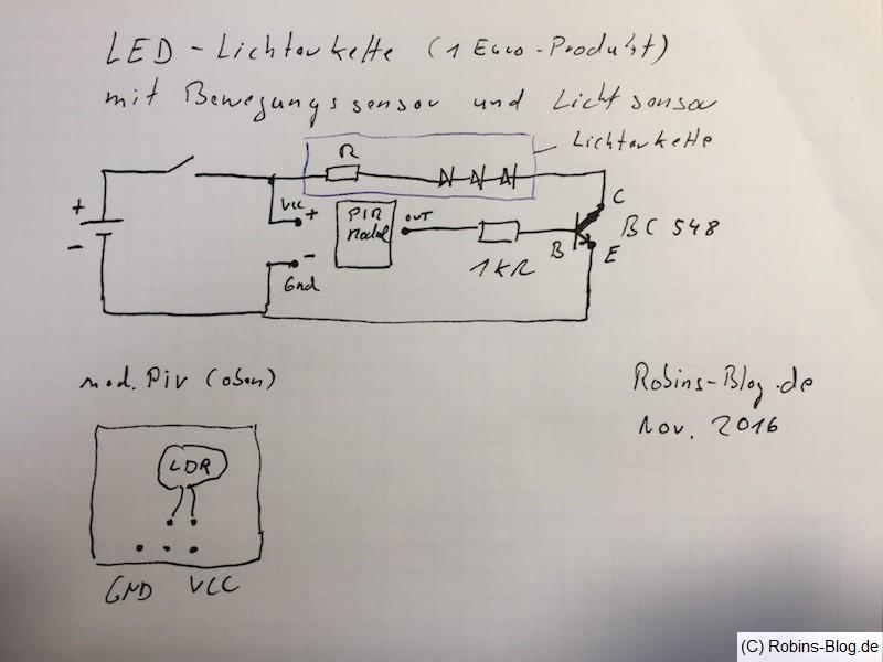 Batterie-LED-Kette mit Bewegungssensor und Lichtsensor bauen ...