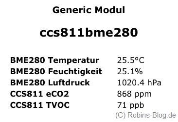 Revisit: TVOC eCO2 Temperatur Luftfeuchte Luftdruck Luftqualität